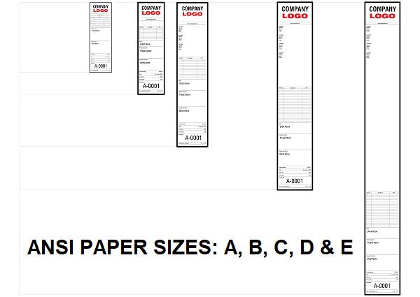 ANSI Standard Paper Size Titleblocks