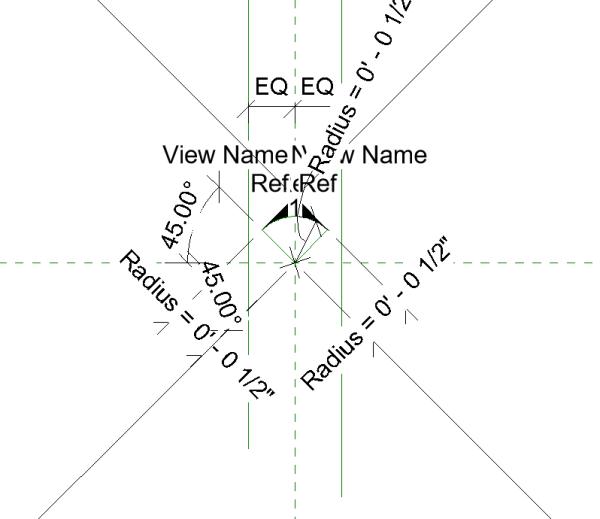Elevation Symbol Pointer Circle.