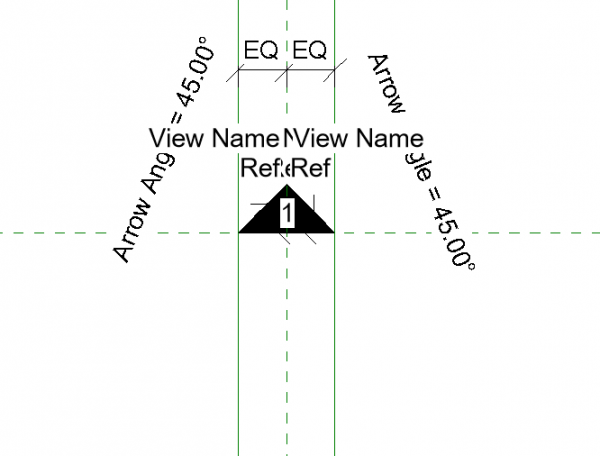 Pointer Square Elevation Symbol
