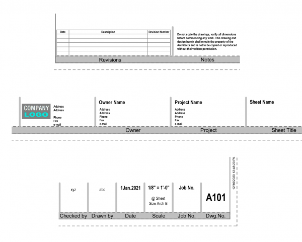 ANSI Architectural Title Sheet – Grey Style