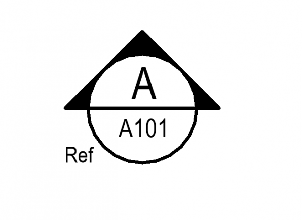 Circle with Arrow Section Mark