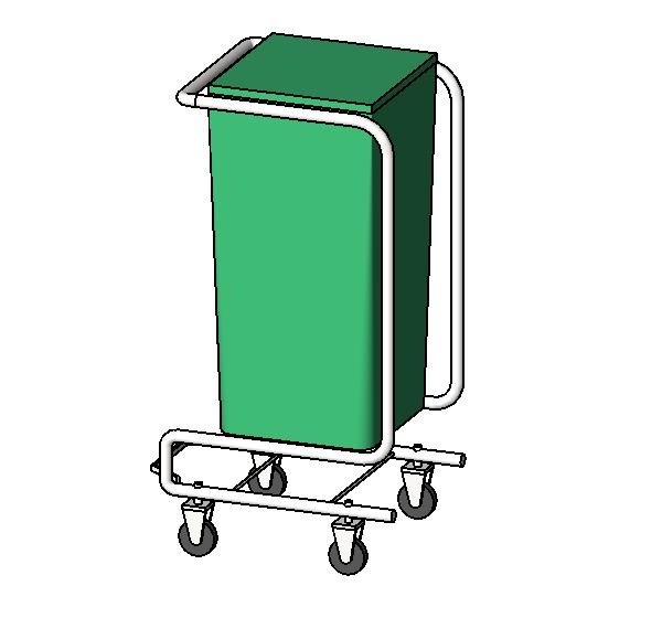 Mobile Hamper on Caster Wheels
