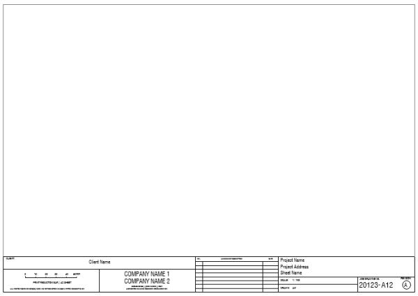 Title Block - A3 Borderless Sheet