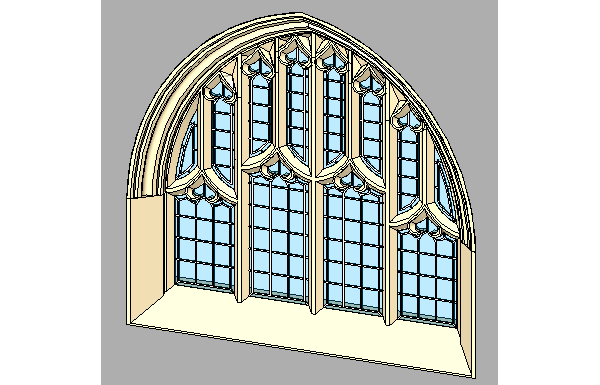 Decorative Stone Window